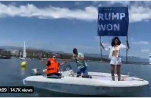 """Trump Won"" Banner Makes Appearance in Switzerland During Biden-Putin Meeting"