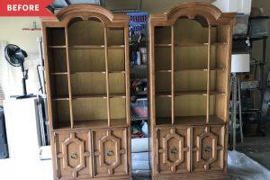Budget-Friendly Bookcase Redo - Purple Bookcase Redo Idea